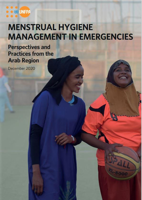 Cover photo of the UNFPA Menstrual Hygiene Management in Emergencies publication