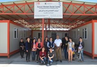 Mr. Ramanathan Balakrishnan, UNFPA Representative in Iraq, visiting the Sununi Women Center, Sinjar district, Nineveh governorate, Northern Iraq