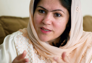 """I want my daughters to be respected as human beings,"" says Fawzia Koofi, a trailblazer in Afghanistan. © Johannes Eisele/AFP/GettyImages"