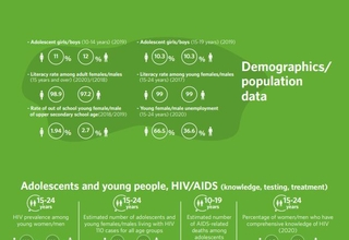 HIV/AIDS Infographics - Palestine country profile