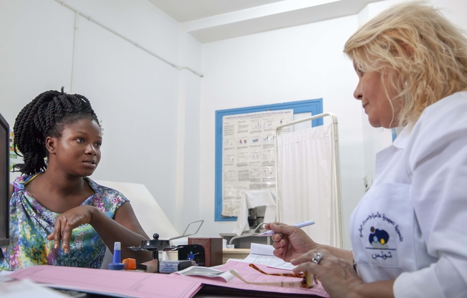 A woman receiving Family Planning services. ©UNFPA Tunisia