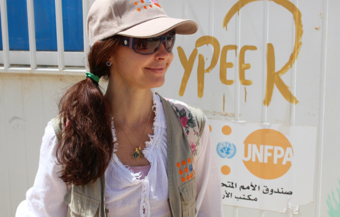 UNFPA Goodwill Ambassador Ashley Judd in Jordan.