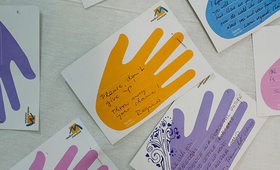 """""""Please don't give up,"""" urges a message at a clinic in Dohuk, Iraq, specializing in treatment for survivors of sexual violence. Sexual and gender-based violence are commonly seen as tactics of warfare. © UNFPAIraq/Turchenkova"""