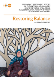 2020 IMPACT ASSESSMENT REPORT OF THE UNFPA MULTI-COUNTRY RESPONSE TO THE SYRIA CRISIS: IRAQ, JORDAN, SYRIA, TURKEY AND TURKEY CROSS-BORDER PROGRAMMES ASSESSMENT REPORT