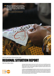 Cover of the UNFPA Regional Situation Report for the Syria Crisis — December 2020