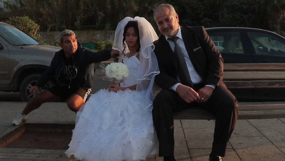 Staged photo shoot drawing attention to the issue of child marriage in Lebanon.
